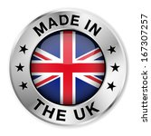 made in the uk silver badge and ...   Shutterstock .eps vector #167307257