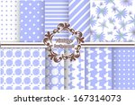 Set Of Blue Backgrounds For...