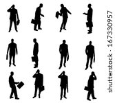 silhouettes of businesspeople | Shutterstock .eps vector #167330957