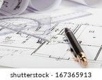 architecture blueprints ... | Shutterstock . vector #167365913
