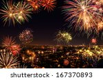 whole city celebrating the new... | Shutterstock . vector #167370893