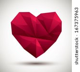 red heart geometric icon made... | Shutterstock .eps vector #167375963