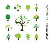 tree symbol  on white... | Shutterstock .eps vector #167386643