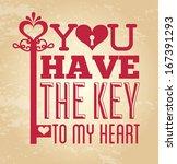 love design over vintage ... | Shutterstock .eps vector #167391293