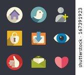 flat icons. social media.