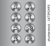 metal buttons with smiles.vector
