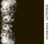 decorative floral pattern....   Shutterstock .eps vector #167393333