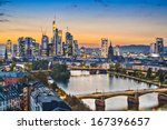 frankfurt  germany on the main... | Shutterstock . vector #167396657