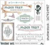 template for the design of... | Shutterstock .eps vector #167414987