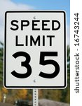 thirty five mile street sign | Shutterstock . vector #16743244