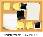 items pinned to a cork message... | Shutterstock .eps vector #167441477