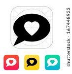 speech bubble with heart icon....