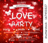 valentine s day party design... | Shutterstock .eps vector #167453327