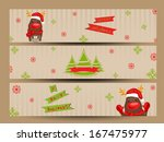 website header or banner set... | Shutterstock .eps vector #167475977