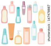 set of plastic cosmetics...   Shutterstock . vector #167478887