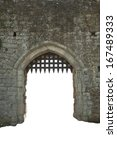 Medieval Castle Gate  White...