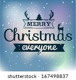 vintage christmas background... | Shutterstock .eps vector #167498837