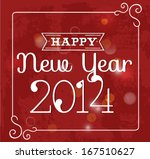 happy new year 2014 greeting... | Shutterstock .eps vector #167510627
