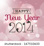 happy new year 2014 greeting... | Shutterstock .eps vector #167510633