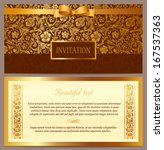 set of vector vintage luxury... | Shutterstock .eps vector #167537363