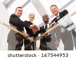 strong business team. low angle ... | Shutterstock . vector #167544953