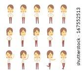 urban character set in...   Shutterstock .eps vector #167552513