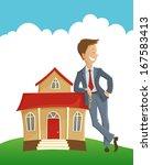 vector illustration of man... | Shutterstock .eps vector #167583413