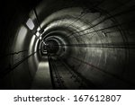 A Dark Grungy Subway Tunnel...