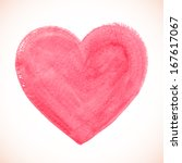 pink vector painted heart | Shutterstock .eps vector #167617067