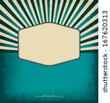 vintage design template with... | Shutterstock .eps vector #167620313