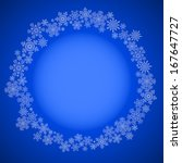 blue christmas frame with drawn ... | Shutterstock .eps vector #167647727