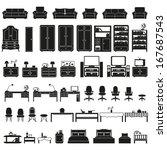 furniture set | Shutterstock .eps vector #167687543