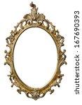 art nouveau gold mirror frame | Shutterstock . vector #167690393