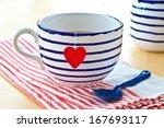 Big Striped Mug Of Tea With A...