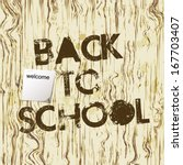 back to school poster with text ... | Shutterstock .eps vector #167703407