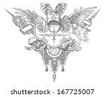 knight emblem | Shutterstock .eps vector #167725007