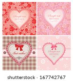 greeting labels with hearts | Shutterstock .eps vector #167742767
