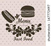 menu design over  dotted ... | Shutterstock .eps vector #167772497