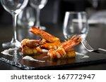 elegant grilled shrimps   Shutterstock . vector #167772947