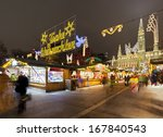 vienna town hall and the... | Shutterstock . vector #167840543