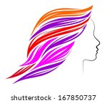illustration of a female head... | Shutterstock . vector #167850737
