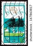 gdr   circa 1974  a stamp... | Shutterstock . vector #167863817