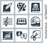 vector school subjects icons... | Shutterstock .eps vector #167866037