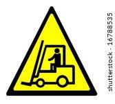 warning sign   forklift truck   Shutterstock . vector #16788535