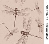 dragonfly sketch | Shutterstock .eps vector #167886107