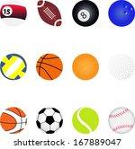 sport icons | Shutterstock .eps vector #167889047