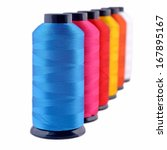 spools of threads isolated on a ... | Shutterstock . vector #167895167