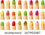 vector illustration of various... | Shutterstock .eps vector #167903387