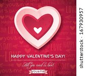 red valentines day greeting... | Shutterstock .eps vector #167930957