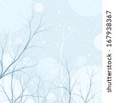 winter trees background ... | Shutterstock . vector #167938367